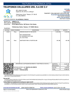 formato de factura electr243nica gncys factura electr243nica