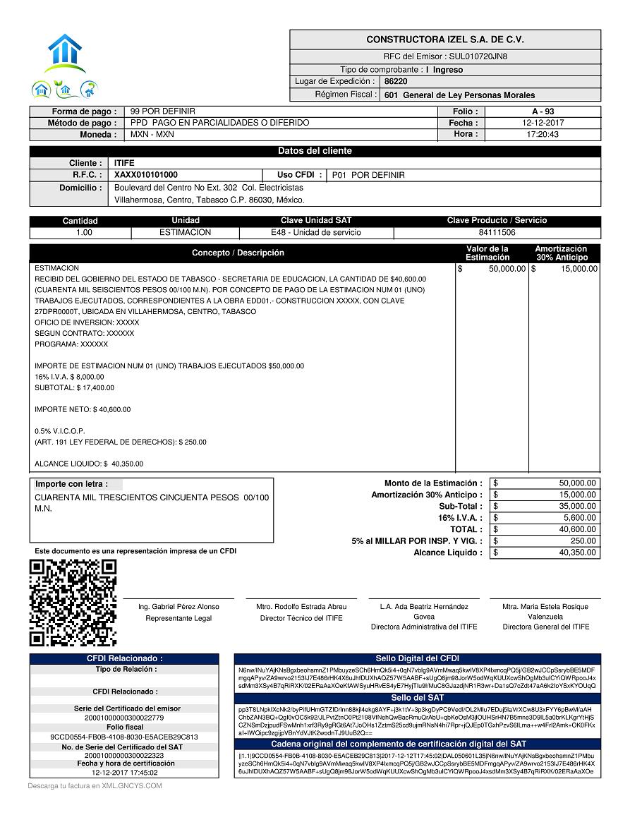 formato itife anexo 20 versión 3 3 gncys factura electrónica 2019