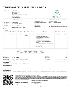 ejemplos de la versión impresa de un cfdi gncys factura